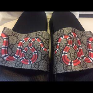 68485be8da7 Gucci Shoes - Gucci Pursuit Snake GG Supreme Sandal