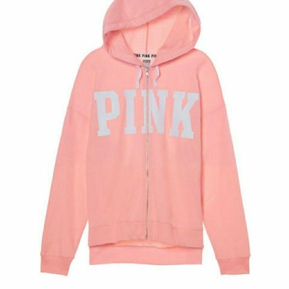 9635c72832adf Victoria's Secret PINK Slouchy Full Zip Hoodie New