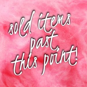 💕 SOLD FROM THIS POINT ON 💕