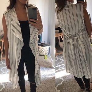Tops - White striped vest