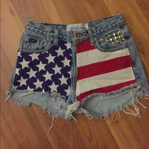 Handmade Flag Cutoffs