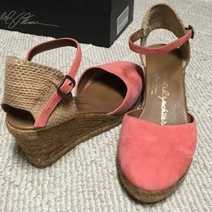 Shoes - Gently used peach suede espadrilles