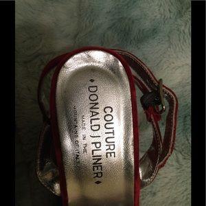Donald J. Pliner Shoes - Donald Pliner velvet sandal