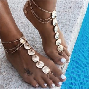 Jewelry - Beach Wedding Sandal Foot Jewelry Sexy Vintage NWT
