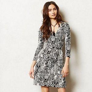 HD in Paris Black/White Snake Wrap Dress