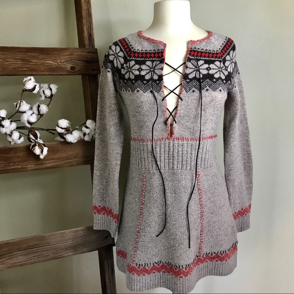 82% off Free People Dresses & Skirts - Free People Fair Isle ...