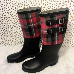 Ugg Plaid Buckle Rain Boots