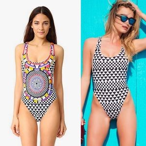 NWT RED CARTER reversible one piece