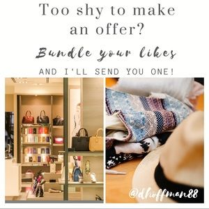 🛍Bundle your likes and I'll send you an offer! 🛍
