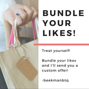 Bundle your likes and I'll send you an offer! 