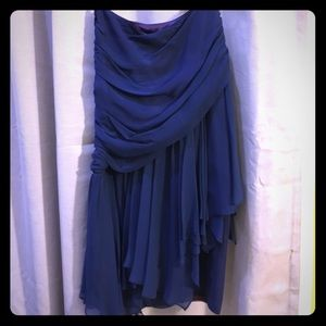 Dresses & Skirts - MAKE AN OFFER‼️ Navy Blue Mini Floral Dress  Jrs S