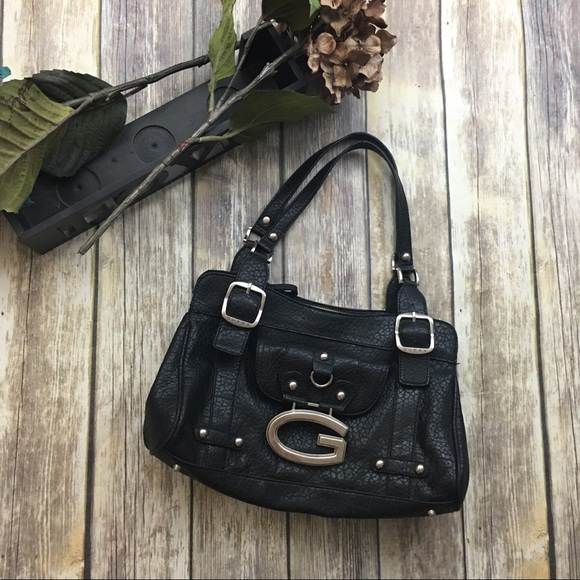 Guess Handbags - 🎈Guess Black Satchel G Emblem Purse a4c3498f10126