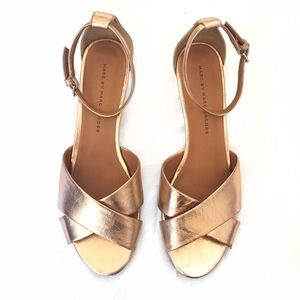 MBMJ Metallic Napa Wedge Sandal