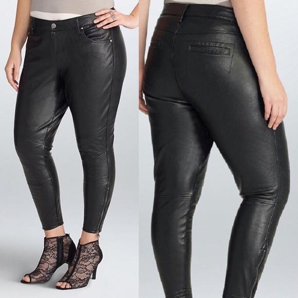 huge inventory huge sale latest trends Rebel Wilson TORRID Black Vegan Leather Pants 18 NWT