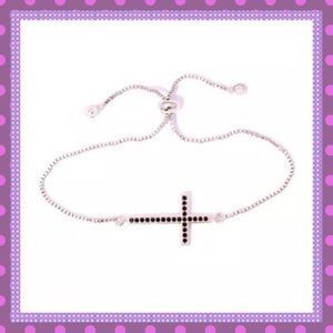 💝Black Onyx Cross Adjustable Bracelet💝