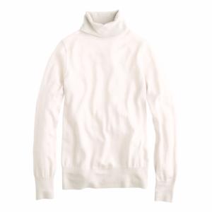 J.CREW Ivory Merino Wool Turtleneck Sweater
