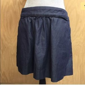 J Crew 100% Cotton Denim Lightweight Skirt Sz 6