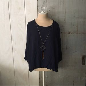 Blue top with necklace included