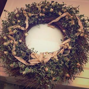 Door Wreath w pink🎀
