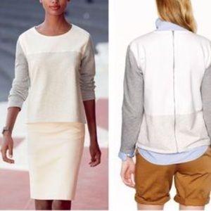 J.Crew // Color Block Sweatshirt with Zipper Back