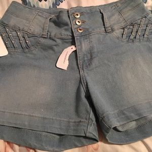 NWT RichCow Jean Shorts