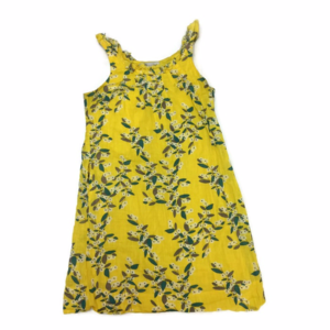 [Old Navy] Yellow Floral Print 100% Cotton Dress M