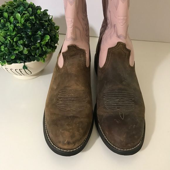 69 ariat shoes ariat womens cowboy pink and brown