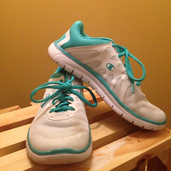 70c736ab7d8 Champion Shoes - White and teal tennis shoe from Payless.