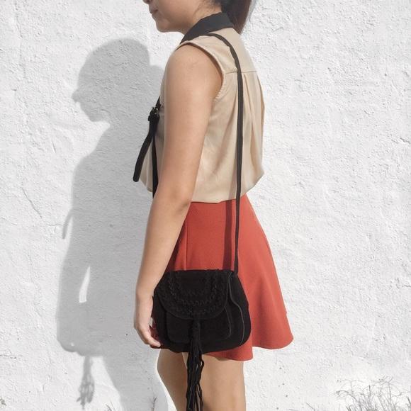 Handbags - Braided Fringe Shoulder Bag