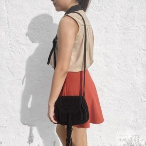 Braided Fringe Shoulder Bag