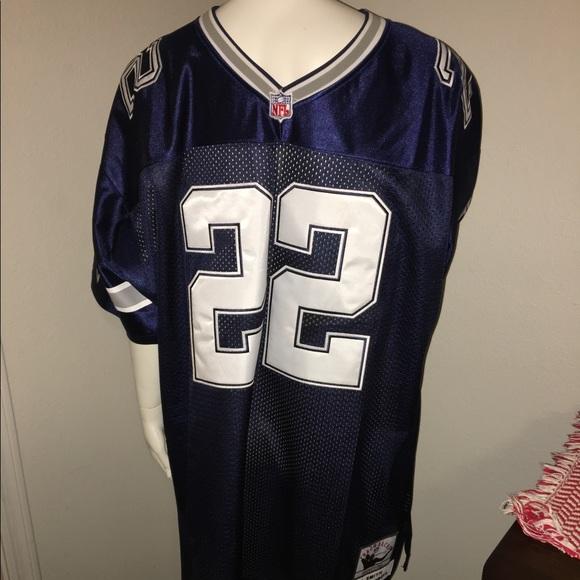 best authentic f1f68 b7fe9 Vintage Dallas Cowboys blue Emmitt Smith jersey 56 NWT