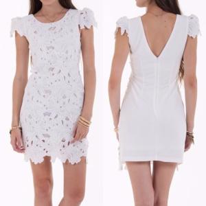 Dresses & Skirts - White Flowered Dress