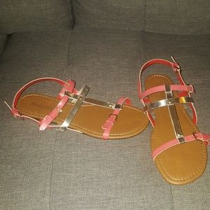 Gold and Orange Sandals