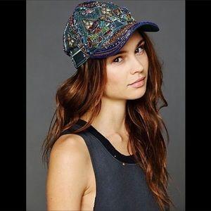 FREE PEOPLE embellished hat