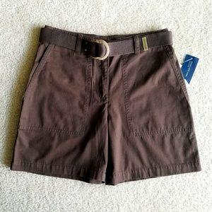 NWT Jones New York Brown Shorts w/ Rustic Belt