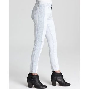 rag & bone lightwash split skinny jeans