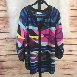  Calvin Klein multicolored abstract top