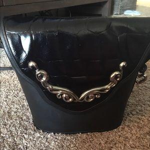 Handbags - NWOT Black Structured silver detail Handbag