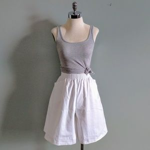 vintage 80's cotton wide leg high waisted shorts