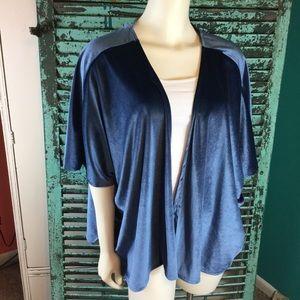 NWT Beautiful Velour Blue Kimono