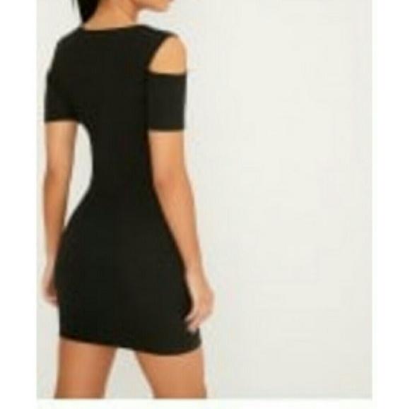 pretty little thing black bodycon dresses