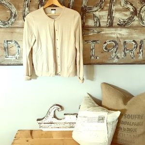 J. Crew wool cardigan with pearlescent buttons