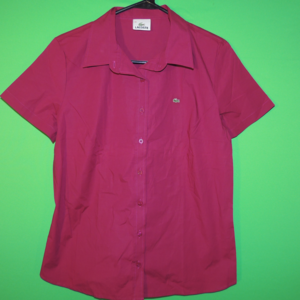 Lacoste Women's Size 44 Purple Short Slv Shirt