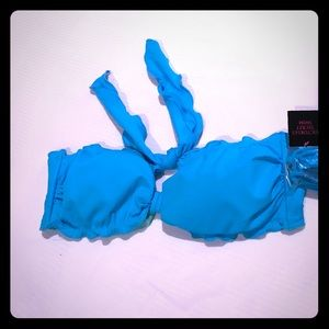 VS blue bikini top