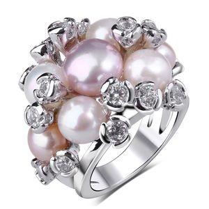 🆕 Swarovski Crystals & Pearl Statement Ring