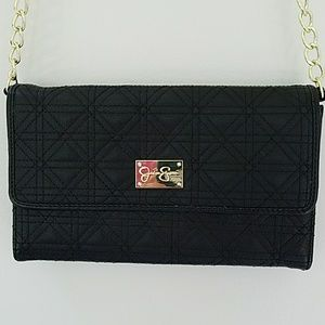 Jessica Simpson Crossbody Bag Black and Gold