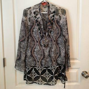 Hale Bob Cabana silk tunic