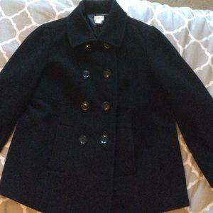 Motherhood Maternity Black maternity pea coat
