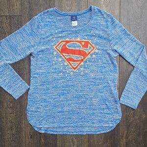 Tops - NWOT Superman Blue Top