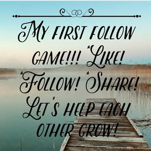 My first follow game!! 💟💕